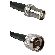 C Female Connector On LMR-240UF UltraFlex To N Reverse Thread Male Connector Cable Assembly