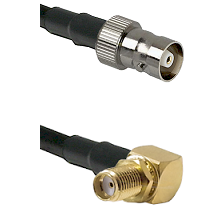 C Female Connector On LMR-240UF UltraFlex To SMA Reverse Thread Right Angle Female Bulkhead Connecto