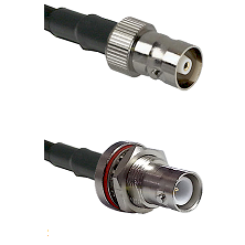 C Female Connector On LMR-240UF UltraFlex To SHV Bulkhead Jack Connector Cable Assembly