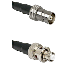 C Female Connector On LMR-240UF UltraFlex To SHV Plug Connector Cable Assembly