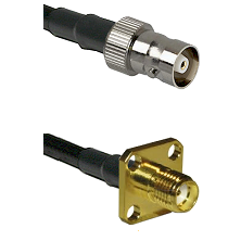 C Female Connector On LMR-240UF UltraFlex To SMA 4 Hole Female Connector Cable Assembly