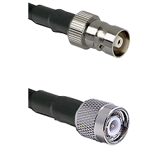 C Female Connector On LMR-240UF UltraFlex To TNC Male Connector Cable Assembly