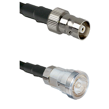 C Female on RG142 to 7/16 Din Female Cable Assembly
