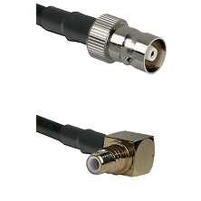 C Female on RG142 to SMC Right Angle Male Cable Assembly
