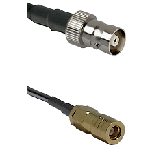 C Female on RG142 to SLB Female Cable Assembly