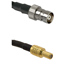 C Female on RG142 to SLB Male Cable Assembly