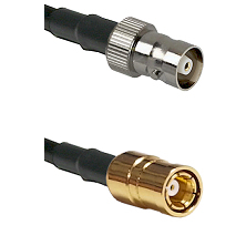 C Female on RG142 to SMB Female Cable Assembly