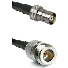 C Female on RG214 to N Reverse Polarity Female Cable Assembly