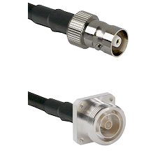 C Female on RG400 to 7/16 4 Hole Female Cable Assembly