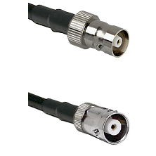 C Female on RG400 to MHV Female Cable Assembly