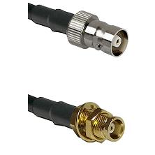 C Female on RG58C/U to MCX Female Bulkhead Cable Assembly