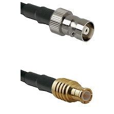 C Female on RG58C/U to MCX Male Cable Assembly