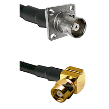 C 4 Hole Female on LMR-195-UF UltraFlex to SMC Right Angle Female Cable Assembly