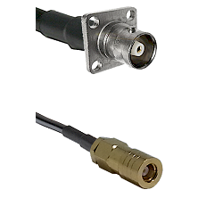 C 4 Hole Female on LMR-195-UF UltraFlex to SLB Female Cable Assembly