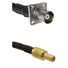 C 4 Hole Female on LMR-195-UF UltraFlex to SLB Male Cable Assembly
