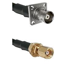 C 4 Hole Female on LMR-195-UF UltraFlex to SMC Female Bulkhead Cable Assembly