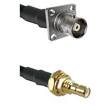 C 4 Hole Female on LMR200 UltraFlex to SMB Male Bulkhead Cable Assembly