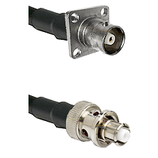 C 4 Hole Female Connector On LMR-240UF UltraFlex To SHV Plug Connector Cable Assembly