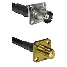 C 4 Hole Female Connector On LMR-240UF UltraFlex To SMA 4 Hole Female Connector Coaxial Cable Assemb