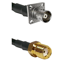 C 4 Hole Female Connector On LMR-240UF UltraFlex To SMA Female Connector Cable Assembly
