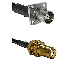 C 4 Hole Female Connector On LMR-240UF UltraFlex To SMA Female Bulkhead Connector Coaxial Cable Asse