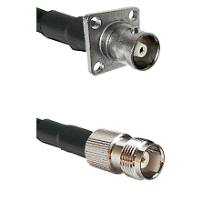 C 4 Hole Female Connector On LMR-240UF UltraFlex To TNC Female Connector Cable Assembly