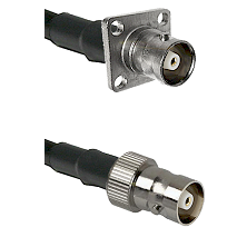 C 4 Hole Female on RG214 to C Female Cable Assembly