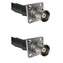 C 4 Hole Female on RG214 to C 4 Hole Female Cable Assembly
