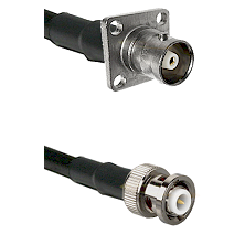 C 4 Hole Female on RG400u to MHV Male Cable Assembly