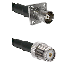 C 4 Hole Female on RG400 to Mini-UHF Female Cable Assembly