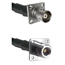 C 4 Hole Female on RG400 to N 4 Hole Female Cable Assembly
