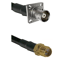 C 4 Hole Female on RG400 to SMA Reverse Polarity Female Cable Assembly