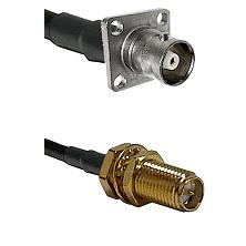 C 4 Hole Female on RG400 to SMA Reverse Polarity Female Bulkhead Cable Assembly