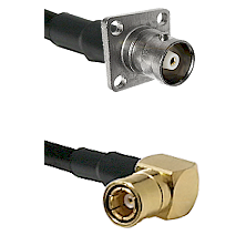 C 4 Hole Female on RG400 to SMB Right Angle Female Cable Assembly