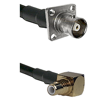 C 4 Hole Female on RG400 to SMC Right Angle Male Cable Assembly
