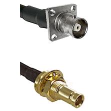 C 4 Hole Female on RG58C/U to 10/23 Female Bulkhead Cable Assembly
