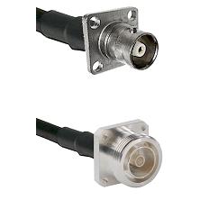 C 4 Hole Female on RG58C/U to 7/16 4 Hole Female Cable Assembly