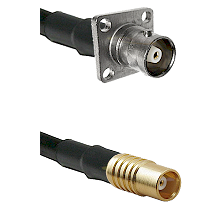 C 4 Hole Female on RG58C/U to MCX Female Cable Assembly