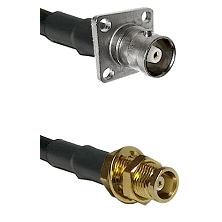 C 4 Hole Female on RG58C/U to MCX Female Bulkhead Cable Assembly
