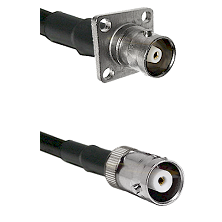 C 4 Hole Female on RG58C/U to MHV Female Cable Assembly