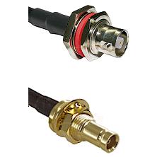 C Female Bulkhead on LMR-195-UF UltraFlex to 10/23 Female Bulkhead Cable Assembly