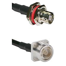 C Female Bulkhead on LMR-195-UF UltraFlex to 7/16 4 Hole Female Cable Assembly