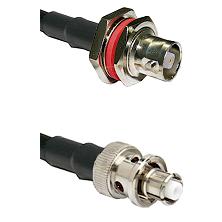 C Female Bulkhead on LMR-195-UF UltraFlex to SHV Plug Cable Assembly