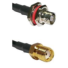 C Female Bulkhead on LMR-195-UF UltraFlex to SMA Female Cable Assembly