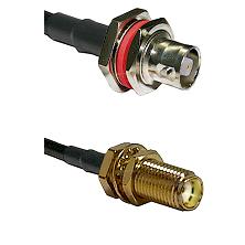 C Female Bulkhead on LMR-195-UF UltraFlex to SMA Female Bulkhead Cable Assembly