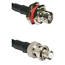 C Female Bulkhead Connector On LMR-240UF UltraFlex To SHV Plug Connector Cable Assembly
