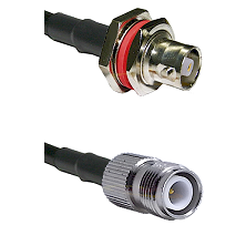 C Female Bulkhead on RG142 to TNC Reverse Polarity Female Cable Assembly