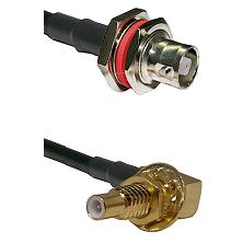 C Female Bulkhead on RG142 to SLB Male Bulkhead Cable Assembly