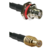 C Female Bulkhead on RG58C/U to MCX Male Cable Assembly