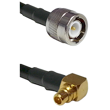 C Male on LMR100 to MMCX Right Angle Male Cable Assembly